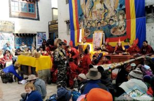 Opening ceremony of tiji festival in Lo Manthang